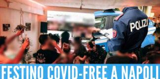 Festino covid free a Napoli: agenti aggrediti