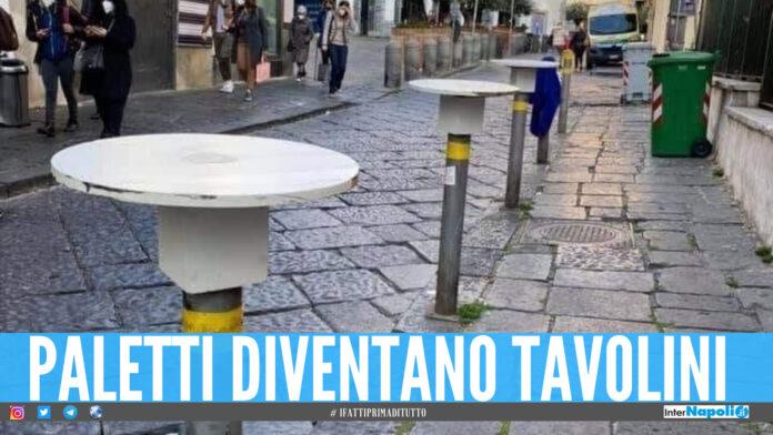 Paletti diventano tavolini