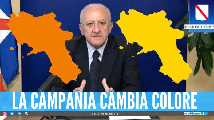 La Campania potrebbe cambiare colore