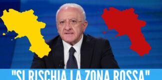 De Luca parla dei colori della Campania