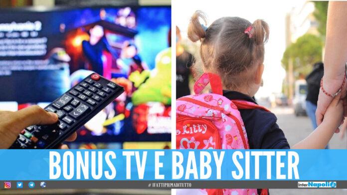 Arrivano bonus tv e baby sitter