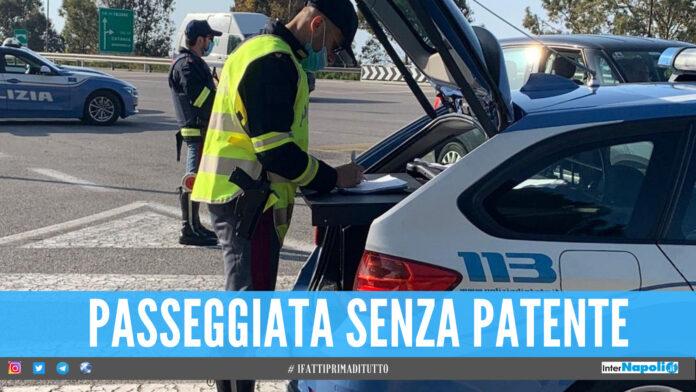 Polizia stradale sul posto