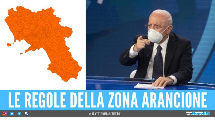 Regole della zona arancione in Campania
