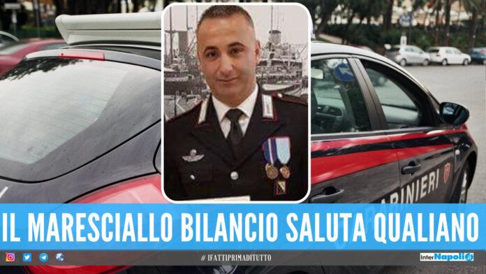 Il maresciallo capo Bilancio saluta Qualiano