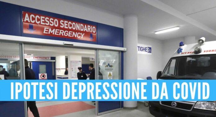 ospedale napoli depressione morta ragazza
