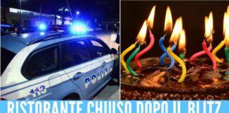 compleanno ristorante chiaiano polizia