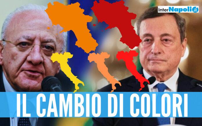 Covid, Italia e Campania al cambio colore