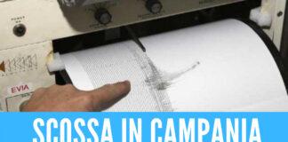 Lieve scossa di terremoto in Irpinia
