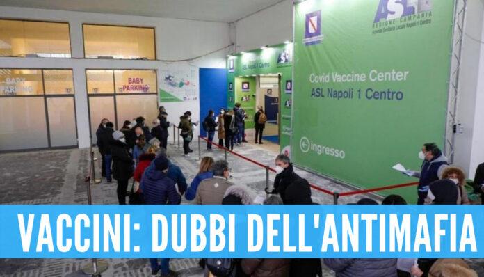 Campania, i dubbi dell'antimafia sulle liste dei vaccinati