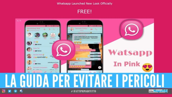 whataspp pink rosa pericolo vittime