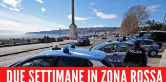 Campania, due settimane in zona rossa