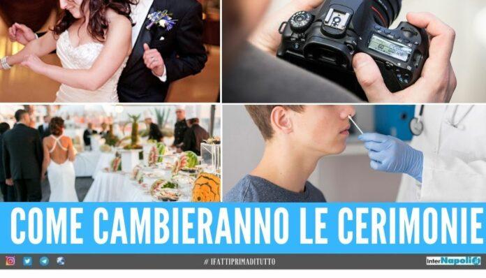 Arrivano le nuove per i matrimoni limiti per invitati, buffet, balli e foto