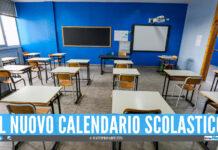 Scuole in Campania, il nuovo anno inizierà il prossimo 15 settembre