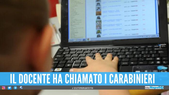 Finge un omicidio durante la videolezione, studente di Salerno nei guai