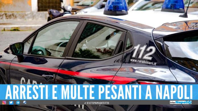Controlli a tappeto a Napoli, arresti e multe da oltre 35mila euro