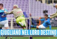Nikita Contini e Piotr Zielinski esultano dopo il gol del polacco sulla Fiorentina