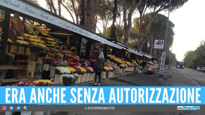 Occupava il passaggio pedonale con 3mila piante, denunciato fioraio a Napoli