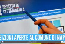 Reddito di Cittadinanza, 800 cittadini potranno lavorare per il Comune di Napoli