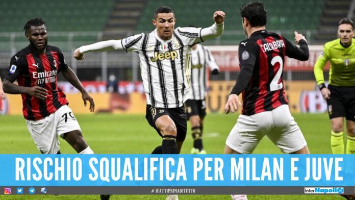 Milan e Juve fuori dalle coppe: «Punizione per i club della Superlega»