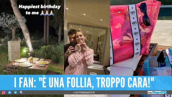 Compleanno da sogno per Chiara Ferragni, l'influncer festeggia e lancia la sua borsa da mare