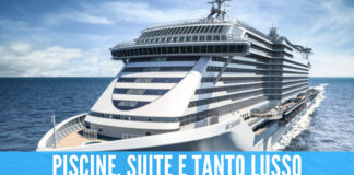 Arriva a Napoli l'MSC Seashore, la nave da crociera più grande mai costruita in Italia