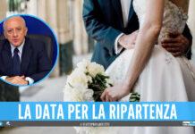 """Ripartono i matrimoni in Campania, De Luca firma l'ordinanza: """"Anticipati i protocolli di sicurezza"""""""