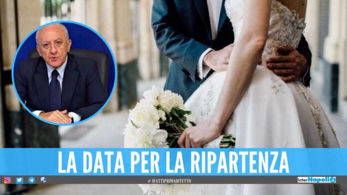 Ripartono i matrimoni in Campania, De Luca firma l'ordinanza: