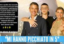 Achille Costacurta insieme ai genitori, Billy Costacurta e Martina Colombari