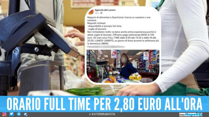 L'annuncio del negozio di alimentari di Quarto