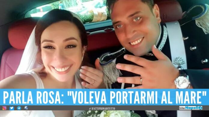 Mario Cerciello Rega e Rosa Maria Esilio il giorno del matrimonio