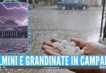 Allerta meteo in Campania: in arrivo temporali, fulmini e grandinate