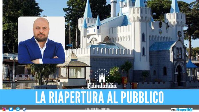 La riapertura del parco divertimenti Edenlandia a Napoli