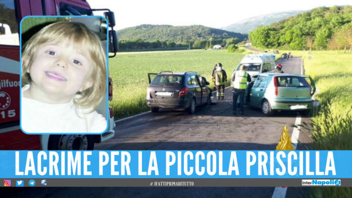 Lacrime nel casertano, bimba di 5 anni muore in un incidente