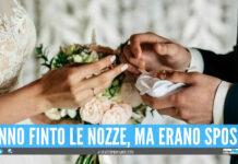 Simulano le nozze con 50 invitati, ma si festeggiava il battesimo della figlia: coppia nei guai