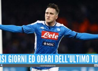Decisi gli orari dell'ultimo turno di Serie A, il Napoli gioca in contemportanea con Milan e Juve