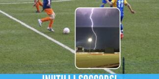 fulmine campo calcio