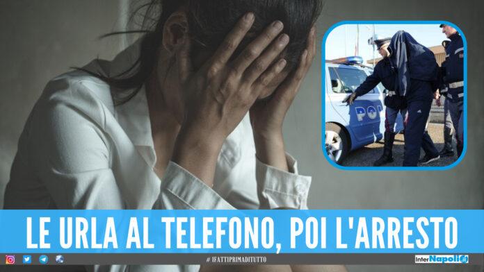 Violenza in diretta al telefono