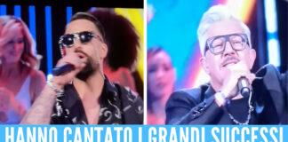 Ciro Rigione ed Enzo Barone sul palco di Felicissima Sera