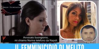 Norina Matuozzo e Salvatore Tamburrino, sullo sfondo estratto da clip Amore Criminale