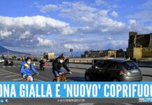 Zona gialla e nuovo coprifuoco in Campania