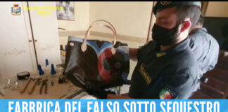 Fabbrica del falso scoperta e sequestrata a Napoli