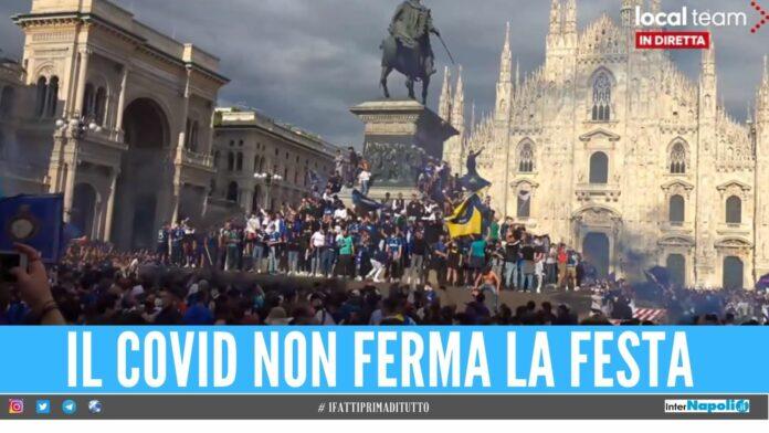 Inter assembramenti piazza vittoria scudetto
