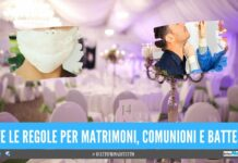 cerimonie regole campania matrimoni battesimi
