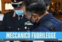 Meccanico fuorilegge a Qualiano, officina già sequestrata ma sversava nelle fogne
