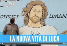 Luca Carnevale ed il murales dedicato a Mario Paciolla