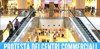 Protesta dei centri commerciali