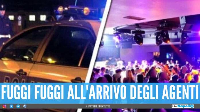 Festino nel noto locale a Bagnoli, centinaia di giovani scappano all'arrivo dalla polizia