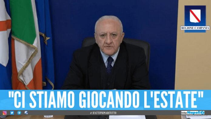 campania vaccini De Luca