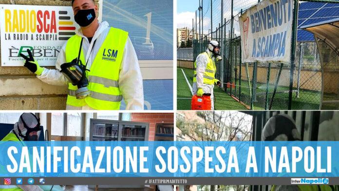 Sanificazione sospesa a Napoli