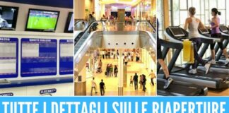 riapertura centri scommesse centro commerciali palestre
